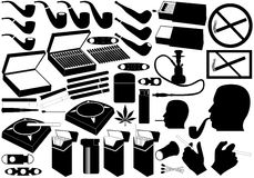 Cigarettes, pipe and cigars Royalty Free Stock Images