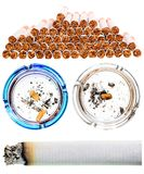 Cigarettes set Royalty Free Stock Photo
