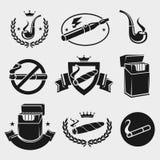 Cigarettes set. Vector. Smoke, isolated Stock Image