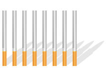 Cigarettes and shade Stock Image