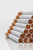 Cigarettes in stack Royalty Free Stock Photography