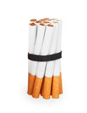 Cigarettes tied with a black ribbon Royalty Free Stock Images