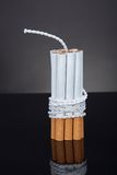 Cigarettes Tied With Rope And Wick Stock Images