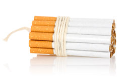Cigarettes tied with rope and wick Stock Photos