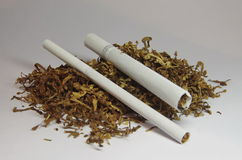 Cigarettes and tobacco Royalty Free Stock Images
