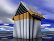Cigaretteshouse. House of the many cigarettes Stock Photography