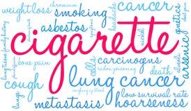 Cigarettordmoln stock illustrationer