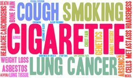 Cigarettordmoln vektor illustrationer