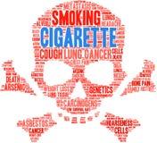 Cigarettordmoln royaltyfri illustrationer