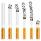 Cigarettuppsättning royaltyfri illustrationer