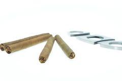 cigarillo's en toebehoren Stock Fotografie