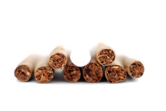 Cigarillo in a white background. Image of a Royalty Free Stock Photography