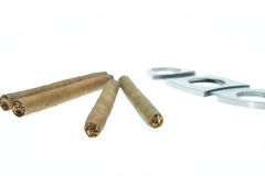 Cigarillos And Accessories Stock Photography
