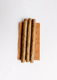 Cigarillos on white background Royalty Free Stock Images
