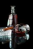 Cigarr med cognacen Royaltyfria Bilder
