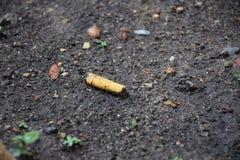 Cigarrillo/basura en la tierra fotos de archivo libres de regalías