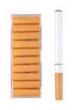 Cigarrillo electrónico con los cartuchos Foto de archivo