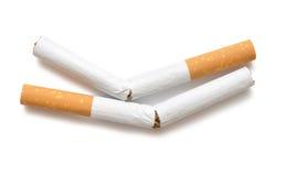 Cigarrillo quebrado Fotos de archivo libres de regalías