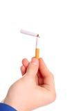 Cigarrillo quebrado Imágenes de archivo libres de regalías