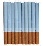 10 cigarrillos Fotos de archivo libres de regalías
