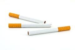 Cigarrillos aislados Fotografía de archivo libre de regalías