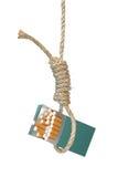 Cigarrillos en una soga Fotografía de archivo libre de regalías