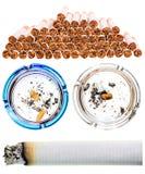 Cigarrillos fijados Foto de archivo libre de regalías