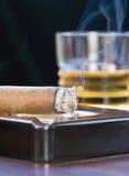 Cigarro con escocés Imagenes de archivo