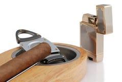 Cigarro cubano Fotos de archivo libres de regalías