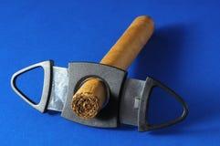 Cigarro de Brown Havan del cubano imagenes de archivo