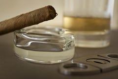 Cigarro de lujo cubano fotos de archivo