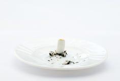 Cigarro e fumo fotografia de stock