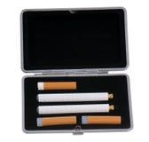 Cigarro eletrônico em um caso Imagens de Stock Royalty Free
