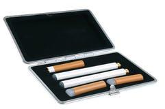 Cigarro eletrônico em um caso Imagem de Stock Royalty Free