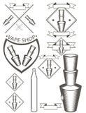 Cigarro eletrônico dos logotipos Imagem de Stock Royalty Free