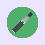 Cigarro eletrônico que vaping, vapor, vetor liso simples médico da saúde Imagens de Stock Royalty Free