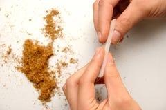 Cigarro rolado Fotografia de Stock