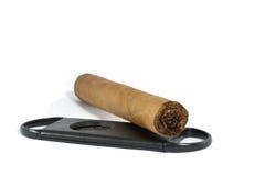 Cigarro y cortador Imagenes de archivo