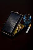 Cigarros caso que Foto de Stock Royalty Free