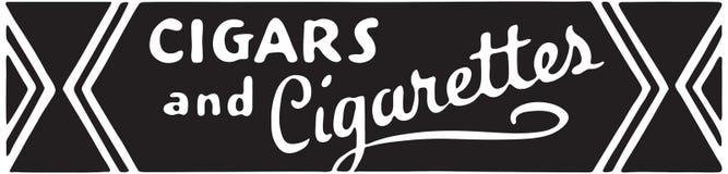 Cigarros e cigarros ilustração do vetor