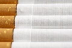 Cigarros em uma fileira Fotografia de Stock