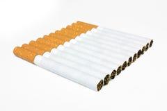 Cigarros na linha isolada Imagem de Stock
