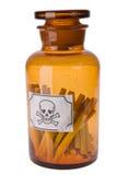 Cigarros no frasco do veneno Imagens de Stock Royalty Free