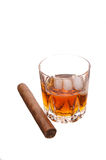 cigarrwhiskey royaltyfri foto