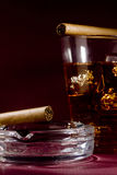 cigarrwhiskey Royaltyfria Bilder