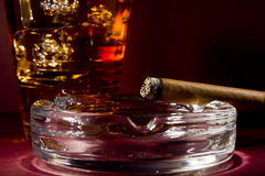 cigarrwhiskey Royaltyfri Bild
