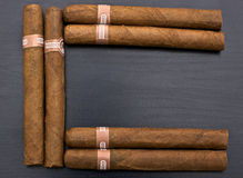 Cigars. Top view of cubans cigars Stock Image