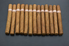 Cigars. Top view of cubans cigars Stock Photo
