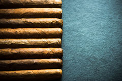Cigars background with copy space Stock Image