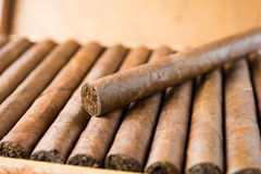 Cigars box Royalty Free Stock Photography